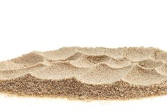 Pile of sand isolated on white background. Pile of sand isolated on white background stock images