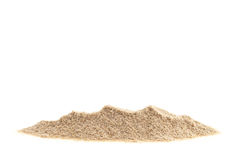 Pile of sand isolated on white background. Pile of sand isolated on white background royalty free stock photography