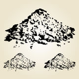 Pile of sand isolated on white. Hand drawn design element. Vecto Royalty Free Stock Photo