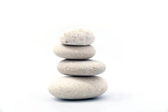 Pile of sand stones. Pile of white sand stones on white background stock photography