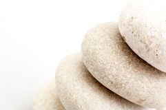 Pile of sand stones. As background Stock Photos