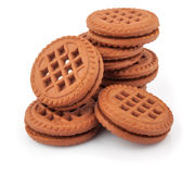 Pile of sandwich cookies Royalty Free Stock Photography