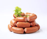 Pile of sausages Stock Photos