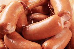 Pile of sausages Royalty Free Stock Photography