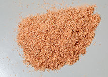 Pile of sawdust and chippings on floor Stock Photo