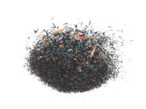 Pile sawdust, trash graphite pencil isolated on white Royalty Free Stock Images