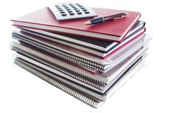 Pile of school books Royalty Free Stock Photo
