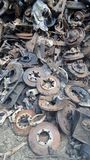 Pile of Scrap iron from automotive parts Stock Images