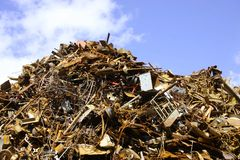 Pile of scrap metal stock photography