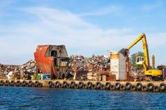 Pile of scrap metal Royalty Free Stock Photo