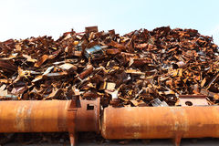 Pile of scrap metal Royalty Free Stock Images