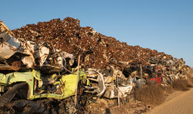 Pile of scrap metal for recycling Royalty Free Stock Images