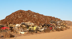 Pile of scrap metal for recycling Stock Photography