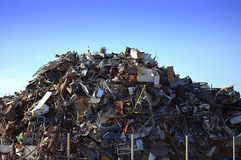 Pile of scrap metal Royalty Free Stock Image