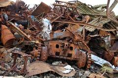 Pile of scrap metal Stock Photos