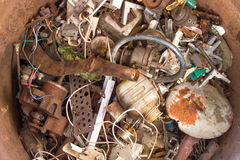 Pile scrap. In the trash Royalty Free Stock Photography