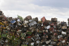 Pile of scrapped Car Royalty Free Stock Images