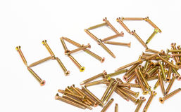 Pile of screw Royalty Free Stock Images