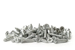 Pile of screws Stock Images