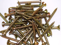 Pile of screws Royalty Free Stock Photos
