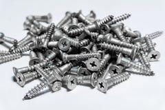 Pile of screws close up stock photography