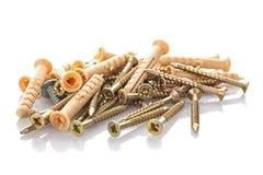 Pile of screws Royalty Free Stock Photos