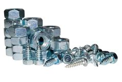 Pile of screws and bolts Royalty Free Stock Images