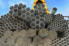 The pile of seamless steel tubes Royalty Free Stock Images