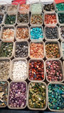 Pile of semi precious stones. Natural background semi precious gemma stones Stock Photography