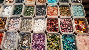 Pile of semi precious stones. Natural background semi precious gemma stones Stock Photos