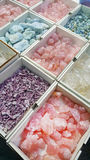 Pile of semi precious stones. Natural background semi precious gemma stones Stock Photo