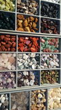 Pile of semi precious stones. Natural background semi precious gemma stones Stock Images