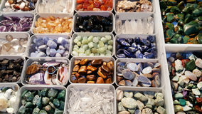 Pile of semi precious stones. Natural background semi precious gemma stones Royalty Free Stock Photography