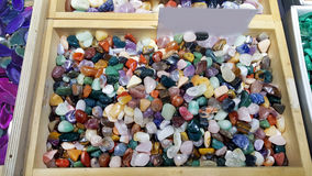 Pile of semi precious stones. Natural background semi precious gemma stones Royalty Free Stock Photo