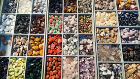 Pile of semi precious stones. Natural background semi precious gemma stones Royalty Free Stock Photos