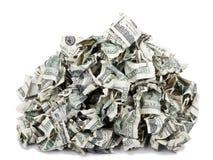 Pile sertie par replis d'argent liquide Photo stock