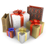 Pile of several different gifts Stock Images