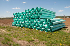 Pile of sewer piping Stock Photography