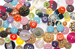 Pile of sewing buttons Royalty Free Stock Photos