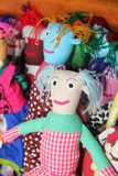 pile sewn cute  dolls Royalty Free Stock Images