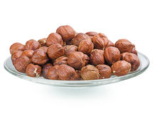 A pile of shell-less hazelnuts Stock Photo