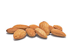 Pile of shelled almond nuts Royalty Free Stock Images
