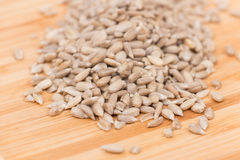Pile of shelled sunflower seeds, isolated Stock Photos