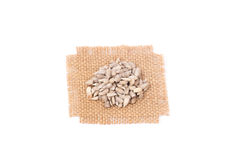 Pile of shelled sunflower seeds,  Royalty Free Stock Photo