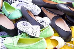 Pile of shoes Stock Photo