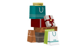 Pile of shopping Stock Photography