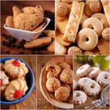 Pile shortbread assorted Stock Photo