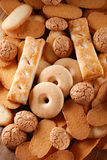 Pile shortbread assorted Royalty Free Stock Image