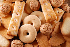 Pile shortbread assorted Stock Photography