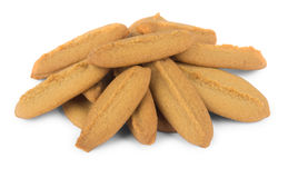 Pile of shortbread cookies Stock Photo